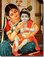 [Mother Yashoda feeding Krishna]