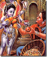[Krishna with the fruit vendor]