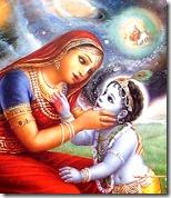 [Krishna looking into Yashoda's mouth]