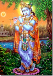 [Lord Krishna in the forest]