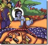 [Krishna crawling on Putana]