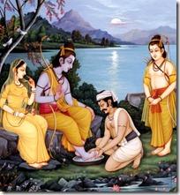 [Rama with the boatman]