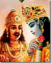 [Arjuna praising Krishna]