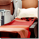 [reclining airline seat]