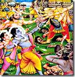 [Rama and army defeating Ravana]