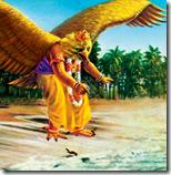 [Garuda helping the sparrow]