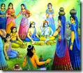 [Wives of the brahmanas feeding Krishna]