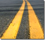 [double yellow line on the road]