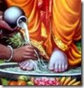 [washing Rama's feet]