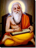 [Vyasadeva writing]
