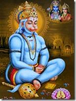 [Hanuman meditating]