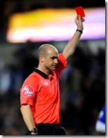[referee with red card]