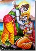 [Vibhishana visiting Rama]