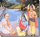 [Tulsidas applying chandan]