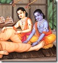 [Rama and Lakshmana with guru]