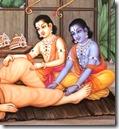 [Rama and Lakshmana with guru]