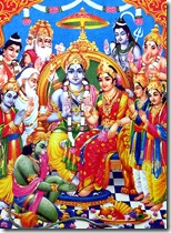 [Sita and Rama with devas]