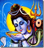 [Lord Shiva drinking poison]