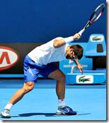 [throwing tennis racket]
