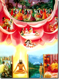 [Krishna rewarding people as they surrender unto Him]