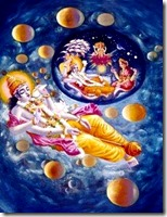 [Lord Vishnu maintaining]
