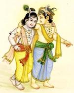 [Krishna and Balarama in Vrindavana]