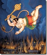 [Hanuman burning Lanka]