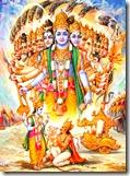 [Krishna showing the universal form]