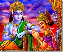 [Krishna counseling Arjuna]