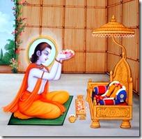 [Bharata in his hut]