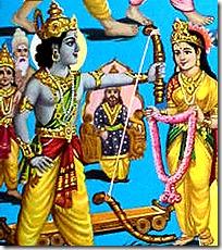 [Rama lifting the bow]