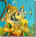 [Rama and Lakshmana with Hanuman]