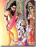 [Bhrigu kicking Vishnu]