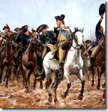 [George Washington leading army]