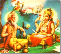 [Vyasa dictating to Ganesha]