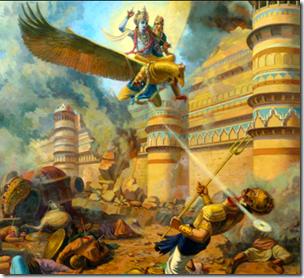 [Krishna killing Narakasura]