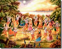 [Krishna dancing with the gopis]