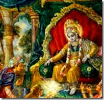 [Krishna with the syamantaka jewel]