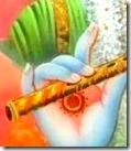 [Krishna holding flute]