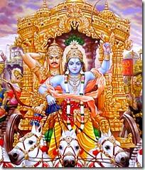 [Krishna driving chariot]