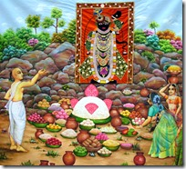 [Offerings to Krishna]