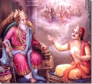 [Sanjaya and Dhritarashtra]