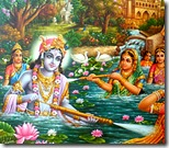 [Krishna and gopis in lake]