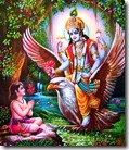 [Lord Vishnu with Dhruva]