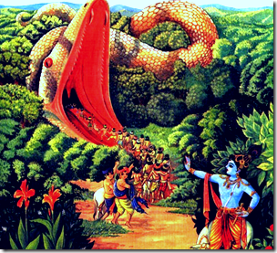 [Krishna and Aghasura]
