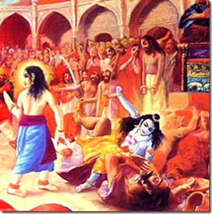 [Krishna killing Kamsa]