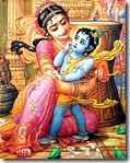 [Krishna tied to mortar]