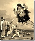 [Rama and Lakshmana fighting Tataka]