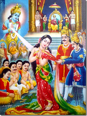 [Draupadi saved by Krishna]