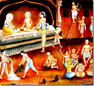 [Chaitanya washing Gundicha temple]